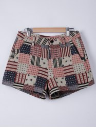 American Flag Shorts - WATERMELON RED