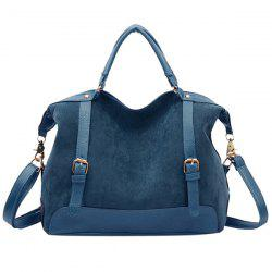 Street Style Splice and Buckles Design Women's Tote Bag