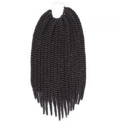 Fashion Heat Resistant Fiber Senegal Twists Braids Hair Extension For Women - JET BLACK