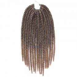 Two-Tone Ombre Stylish Braids Synthetic Senegal Twists Hair Extension For Women - COLORMIX