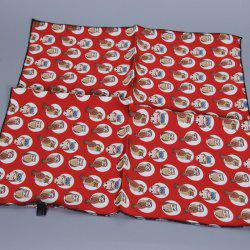Chic Various Handpainted Cartoon Owls Pattern Square Soft Bandana Scarf For Women - RED