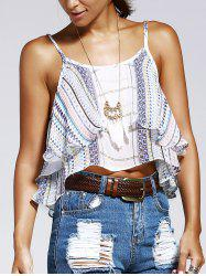 Layered Tribal Print Cami Tabk Top