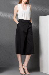 V-Neck Tank Top and Solid Color Wide Leg Pants Twinset -