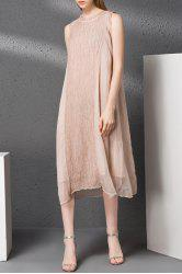 Solid Color Patchwork Ruched Dress -