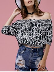Slash Neck Printed Top