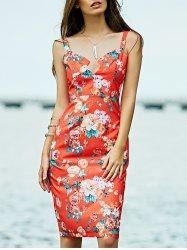 Slimming Low Cut Bodycon Summer Midi Dress -