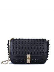 Stylish Studded and Hasp Design Crossbody Bag For Women