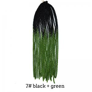 Two-Tone Ombre Stylish Long Heat Resistant Synthetic Dreadlock Hair Extension For Women - #07