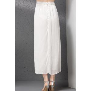 Solid Color Zipper Fly Straight Skirt -