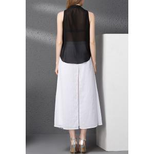 V-Neck Tank Top and Embroidery Wide Leg Pants Twinset -