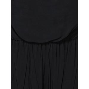 Alluring Strapless Fringed Solid Color Women's Romper -