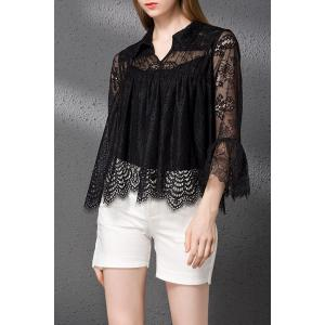Lace T-Shirt and Solid Color Shorts Twinset -