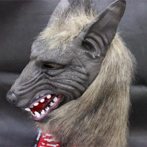 Creepy Halloween Loup Latex Masque Cosplay Prop Pour Fancy Party Bal Afficher -