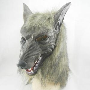 Creepy Halloween Wolf Latex Mask Cosplay Prop For Fancy Ball Party Show -