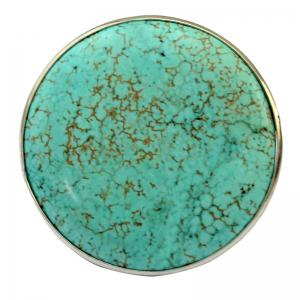Stylish Faux Turquoise Round Opening Ring For Women -