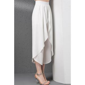 Ruffle Chiffon Big Leg Pants -