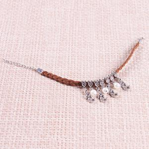 Ethnic Bohemia Faux Pearl Mermaid Anklet For Women - FLAXEN