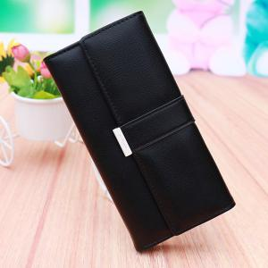 Sweet Candy Color and PU Leather Design Wallet For Women -