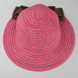 Stylish Big Bow Embellished Casual Holiday Travelling Sunscreen Straw Hat For Women -