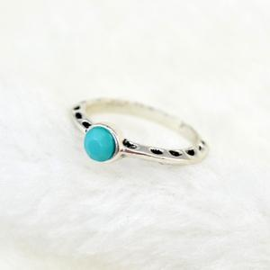 7 Pcs/Set Ethnic Faux Turquoise Embossed Rings -