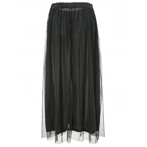 Stylish High-Waisted Pure Color A-Line Women's Maxi Skirt -