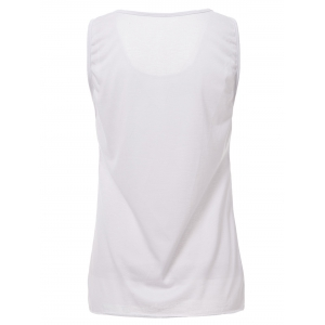 Casual Style Scoop Neck Solid Color Tank Top For Women -