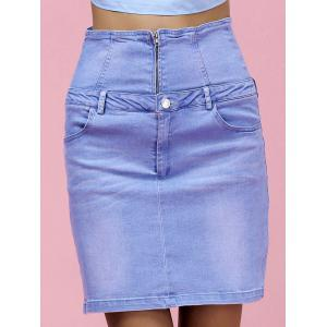 High Waist Skinny Denim Skirt