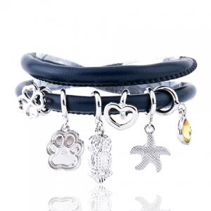 Owl Starfish Heart Clover Multilayer Bracelet