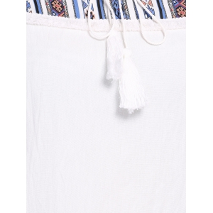 Ethnic Plus Size Printed Spliced Women's T-Shirt -
