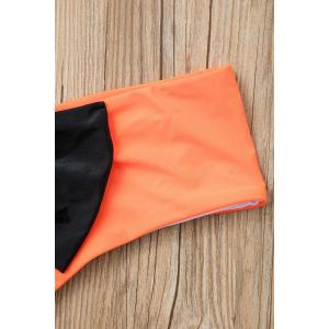 Bowknot Color Block Hipster Cute Bikini Bottoms - ORANGE S