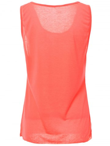 Fashion Casual Style Scoop Neck Solid Color Tank Top For Women - L ROSE Mobile