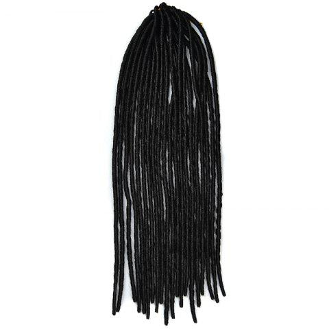Sale Fashion Solid Color Heat Resistant Synthetic Dreadlock Hair Extension For Women