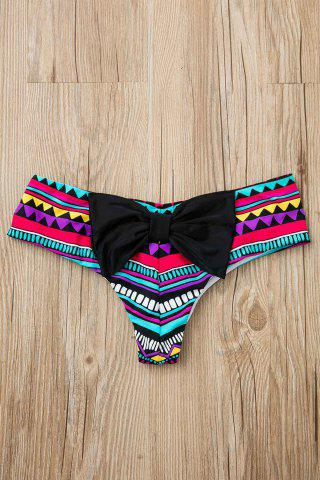 Discount Full Print Bowknot Hipster Cute Bikini Bottoms - M COLORMIX Mobile