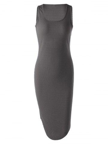 Sleeveless Rib Dress For Women