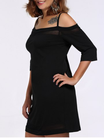 Outfit Plus Size Sheer Spaghetti Strap Dress