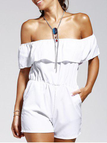 Best Off The Shoulder Solid Color Romper