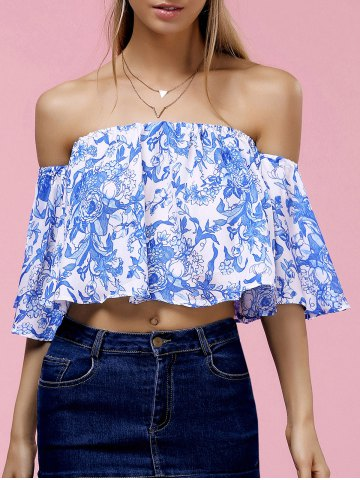 Buy Fashionable Off The Shoulder Floral Print Crop Top For Women