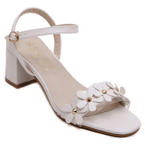 Best Sweet Transparent Plastic and Flowers Design Sandals For Women