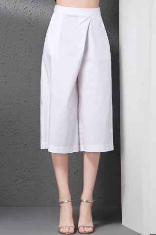 Trendy Elastic Solid Color Loose-Fitting Wide Leg Pants