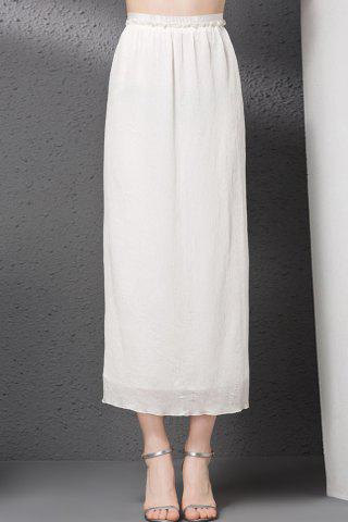 Affordable Solid Color Zipper Fly Straight Skirt