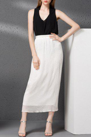 Cheap Chiffon Tank Top and Solid Color Straight Skirt
