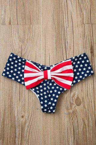 Shops Bowknot American Flag Swim Bottom - S DEEP BLUE Mobile