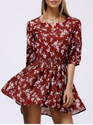 Floral Casual Short Flowy Dress