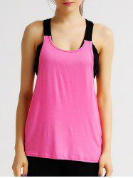 Active Scoop Neck Hollow Out Women's Tank Top