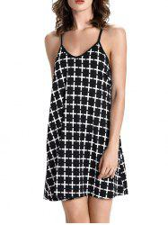 Checked Backless Mini Sundress -