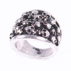 Punk Style Skull Shape Ring - SILVER ONE-SIZE