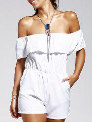 Off The Shoulder Solid Color Romper -