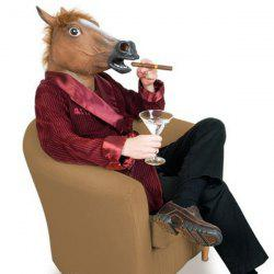 Halloween Supplies Horse Mask Gangnam Style Cosplay Prop - BROWN