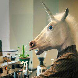 Halloween Prop Supplies Unicorn Mask Cosplay Prop