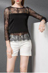 See-Through T-Shirt and Solid Color Shorts Twinset -